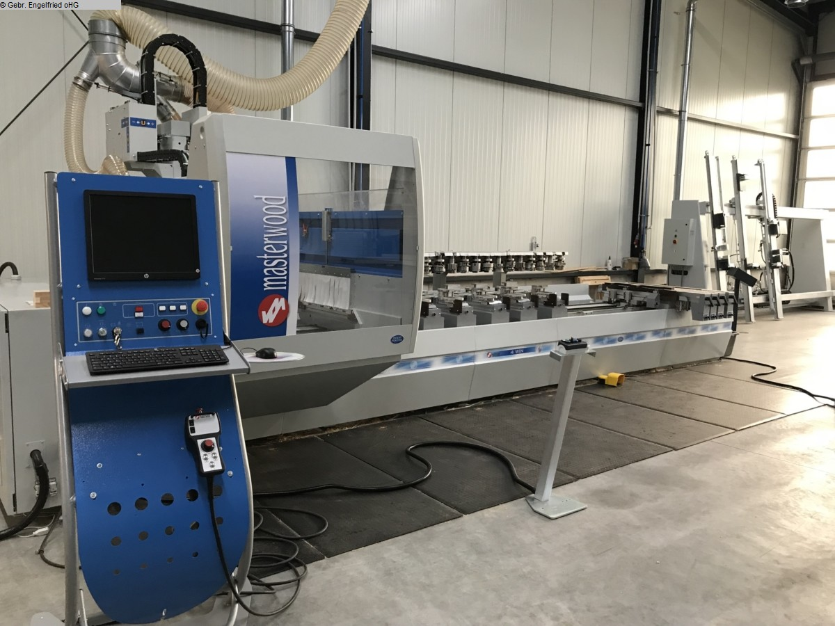 used CNC processing centre windows & doors MASTERWOOD 4 Win - Video -