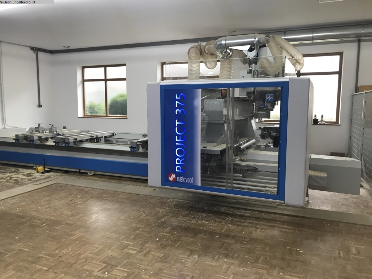 used CNC processing centre windows & doors MASTERWOOD Project 385 WL Video