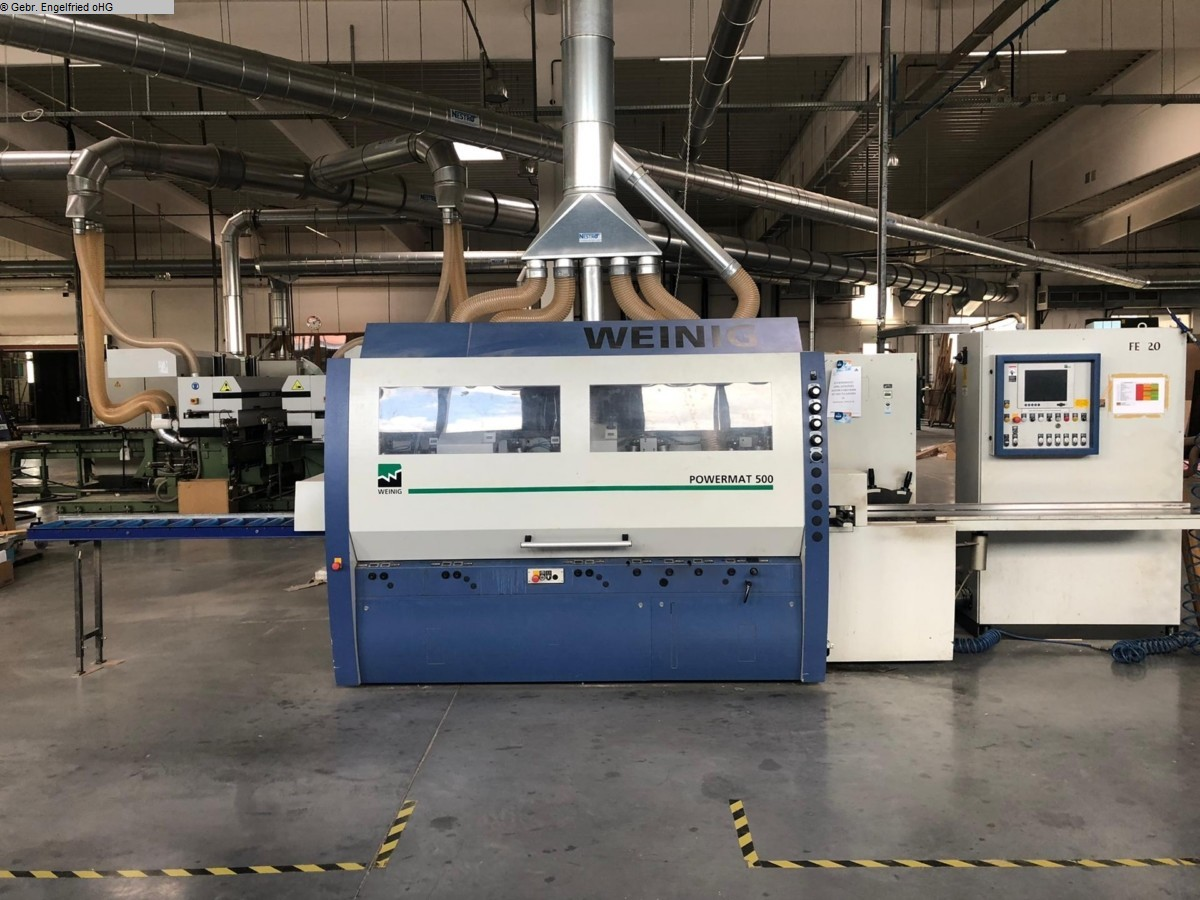 used Window production: wood 4 side moulder WEINIG Powermat 500 CNC Fenster