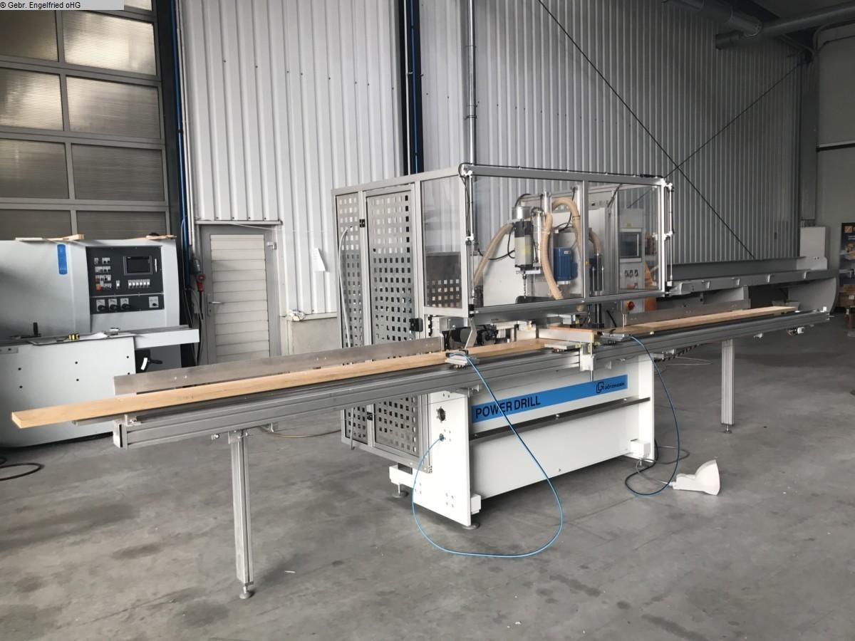 producción de ventanas usada: perforadora de madera y máquina de inserción de espigas GÖTZINGER Power Drill -300 Video -