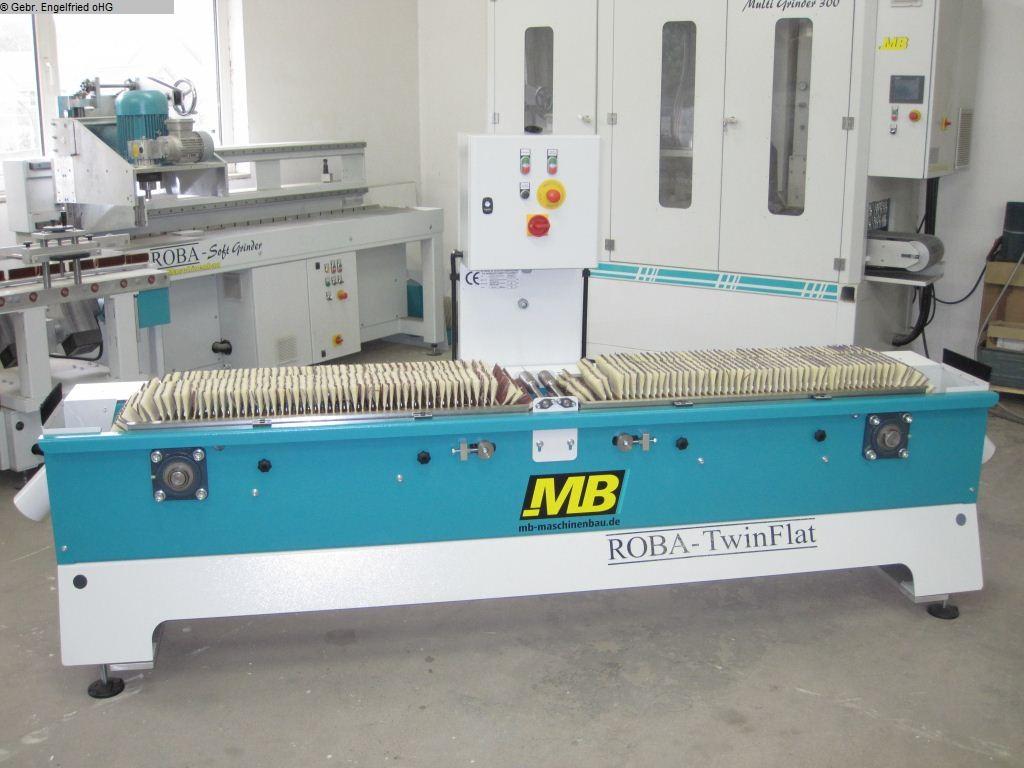 б / у Производство окон: Шлифовальный станок по дереву MB Roba Twin Flat -Video-