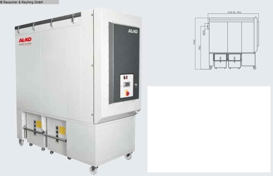used Chip and dust extracting systems Mobile deduster AL-KO Power Unit 250 P FU(AB KW2/22)