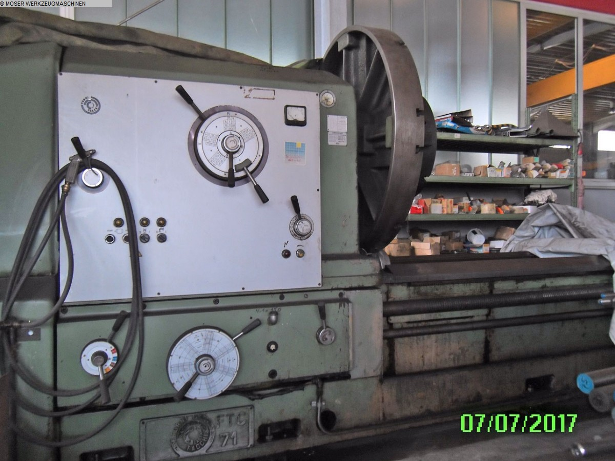 gebrauchte Drehmaschinen Schwerdrehbank TACCHI FTC 71 - 8000