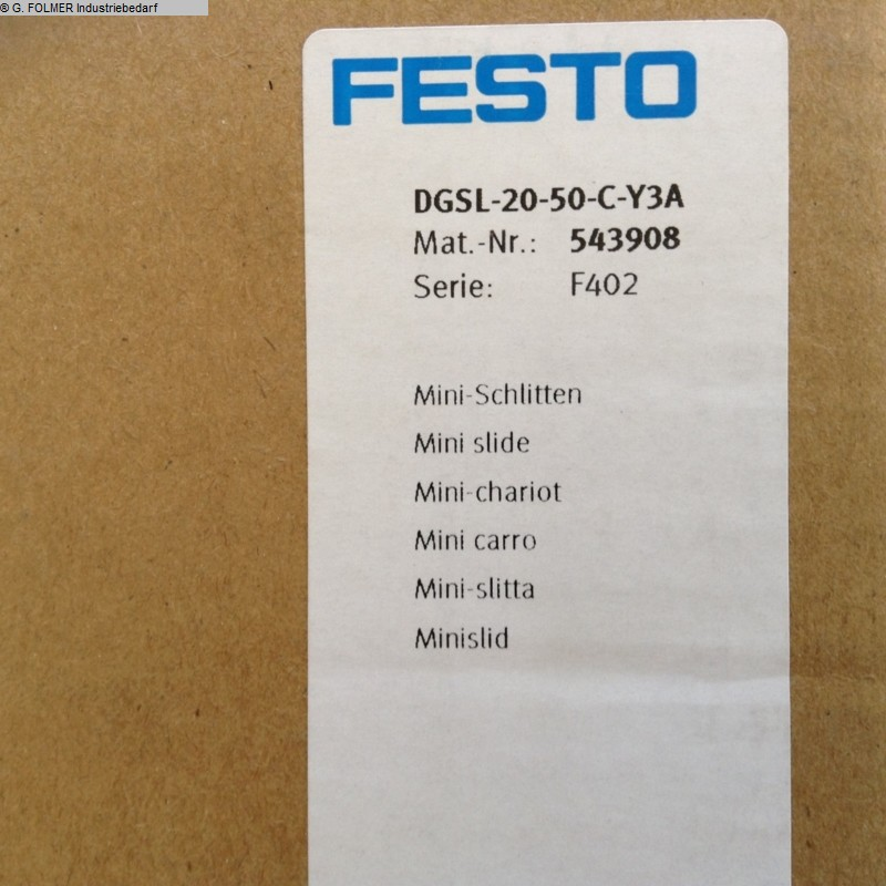 used Window production: PVC Pneumatic articles FESTO DGSL-20-50-CY3A