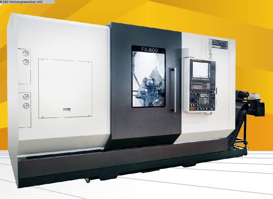 used Lathes CNC Turning- and Milling Center TAKISAWA TAIWAN FX 800