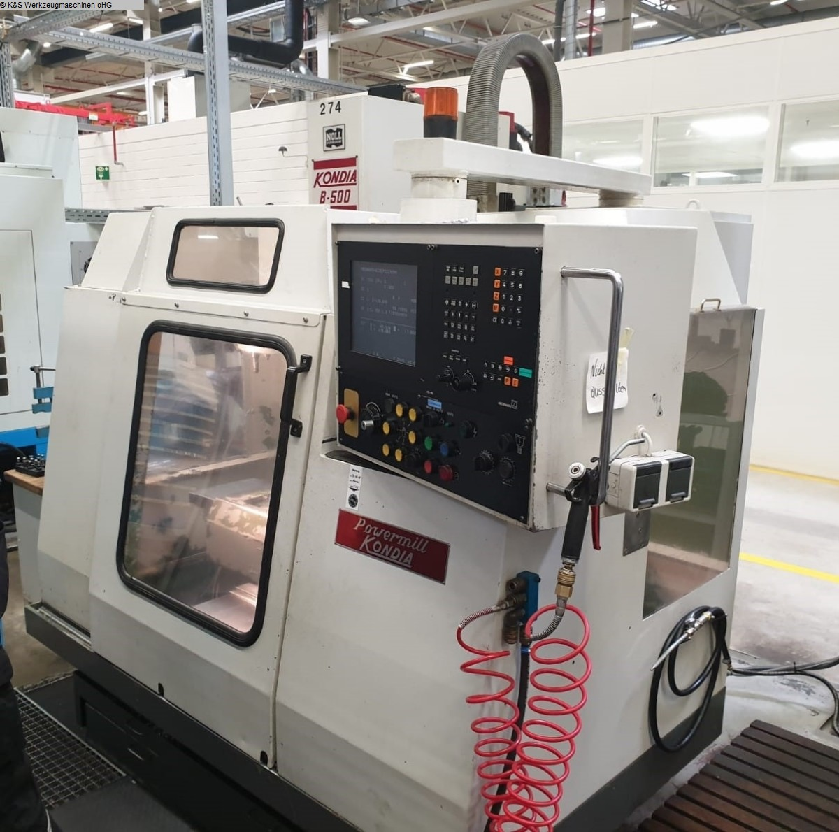 used  milling machining centers - vertical KONDIA B-500