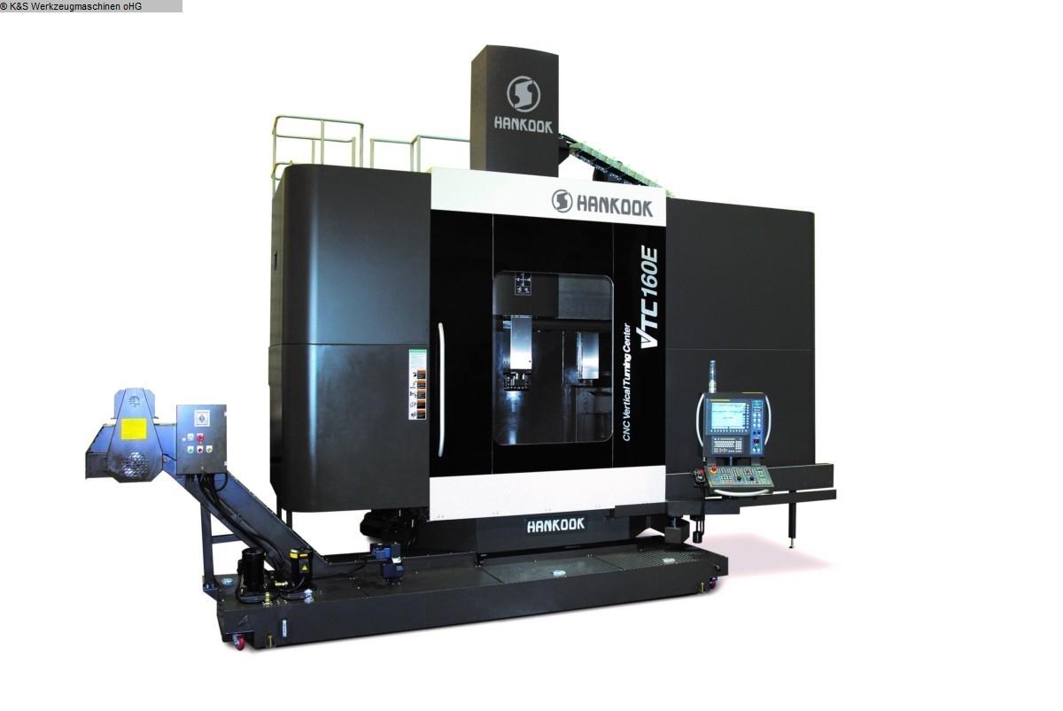 gebrauchte Drehmaschinen Karusselldrehmaschine - Einständer HANKOOK (EMO Messemaschine) VTC-160E Siemens 840D
