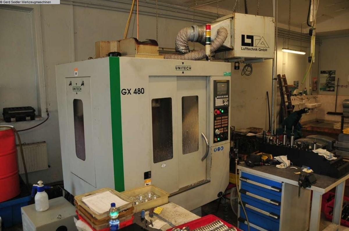 gebrauchte Bohrwerke / Bearbeitungszentren / Bohrmaschinen Bearbeitungszentrum  4 Achs UNITECH GX 480