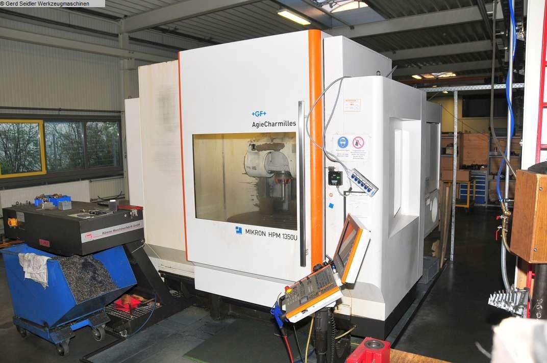 gebrauchte Bohrwerke / Bearbeitungszentren / Bohrmaschinen Bearbeitungszentrum  5 Achs MIKRON HPM 1350U
