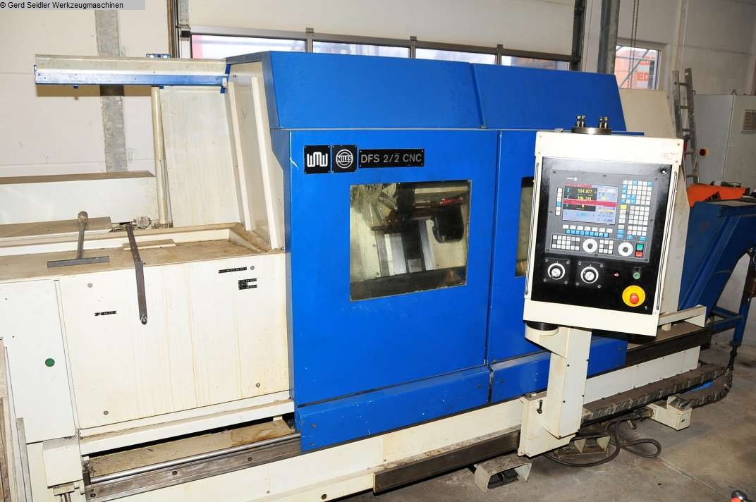 gebrauchte CNC Drehmaschine - Schrägbettmaschine NILES DFS 2-2 CNC
