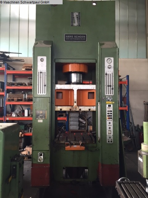 gebrauchte Pressen und Bördelmaschinen Doppelständerpresse - Hydraulisch SCHOEN SH/LF 1600/200