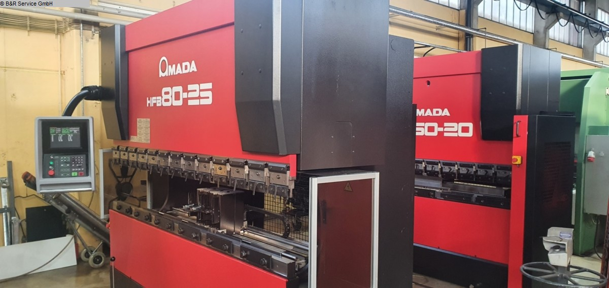 used Sheet metal working / shaeres / bending Hydr. pressbrake AMADA HFB 80-25