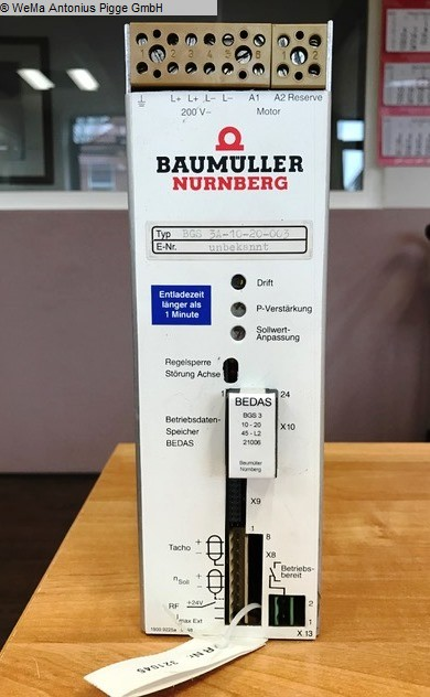 used Electronics / Drive technology Electronics / Drive technology BAUMÜLLER BGS 3A-10-20-003