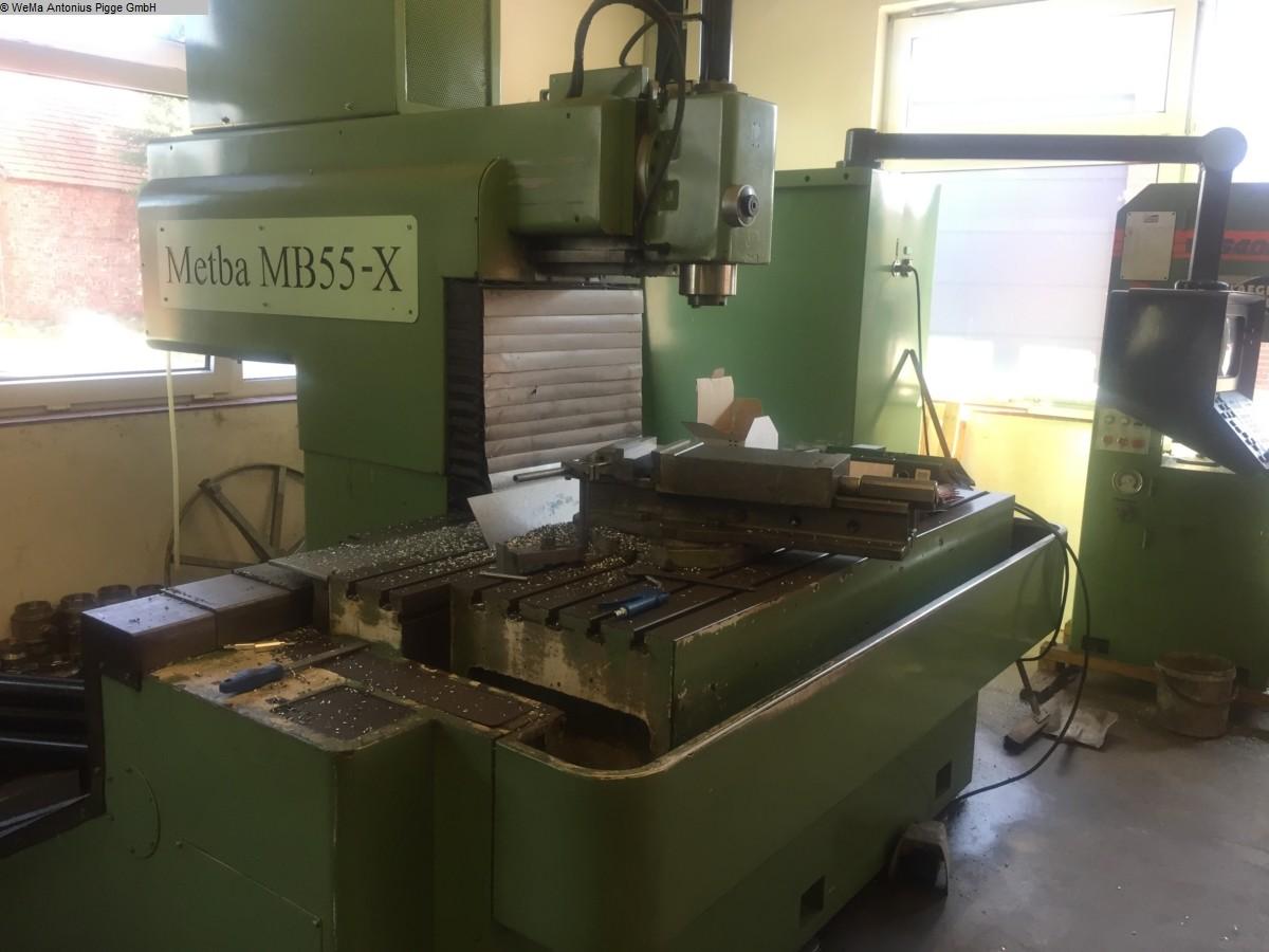 gebrauchte Metallbearbeitungsmaschinen Fahrständerfräsmaschine METBA MB 55-X