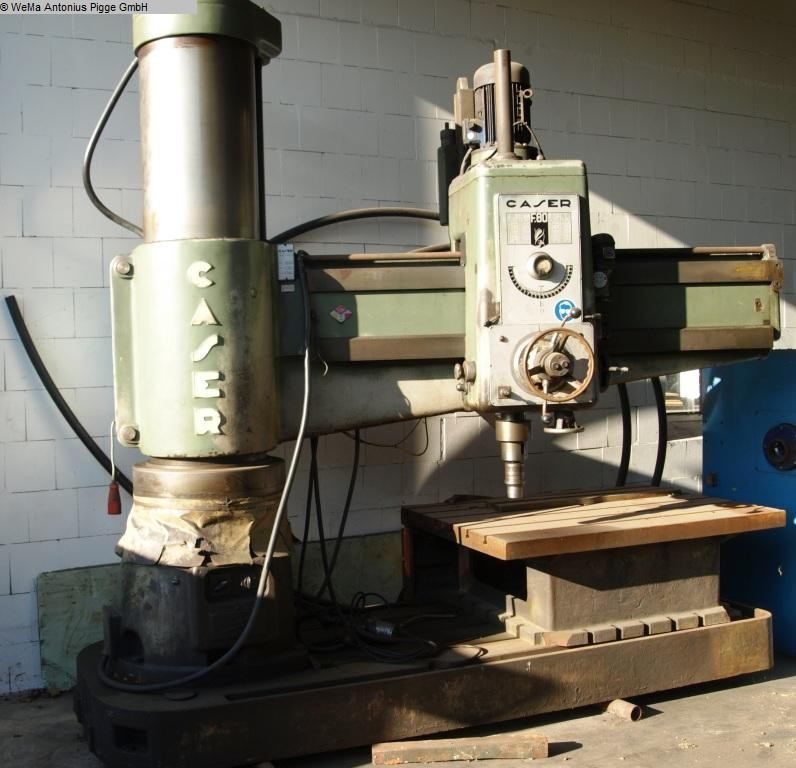 gebrauchte Metallbearbeitungsmaschinen Radialbohrmaschine CASER F80 - 2000