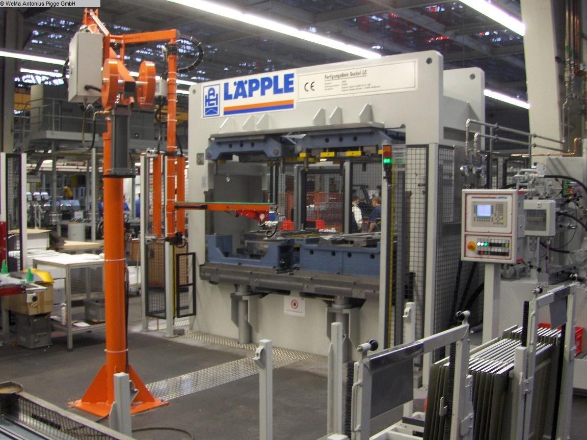 gebrauchte Pressen und Bördelmaschinen Richtpresse - Doppelständer LÄPPLE Sockel LC