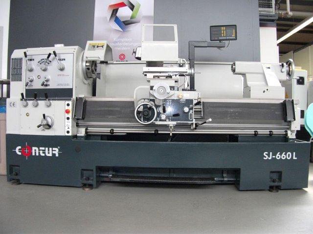 gebrauchte  Leit- und Zugspindeldrehmaschine CONTUR SJ-660