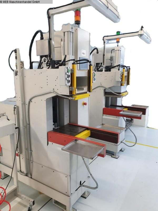 gebrauchte Gummiverarbeitungsmaschinen Vulkanisierpresse Negri/Draftex C-Rahmen Transfer-Presse