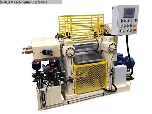 gebrauchte Mischen Walzwerk ITALMEC Laborwalzwerk 150x300