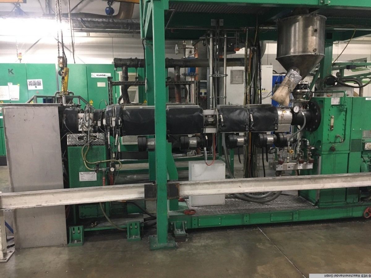 used Rubber processing Extruders (plastic) KUHNE EXTREX 45GP K60E-33D