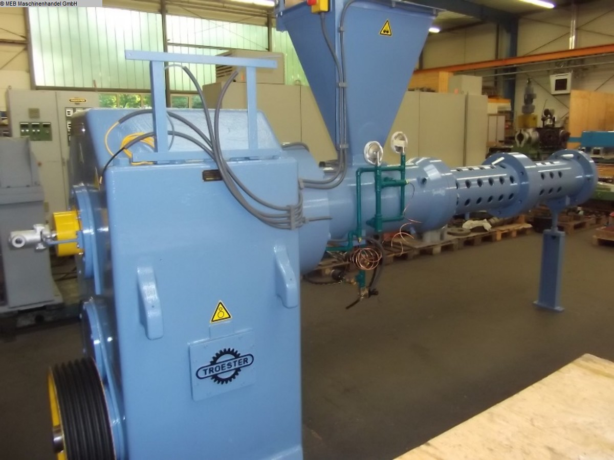 used Rubber processing Rubber Extruder TROESTER QSM 150k-16D-m.Spw.