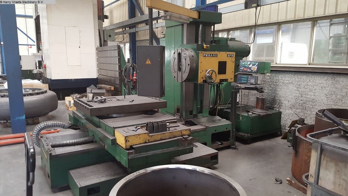 used Boring mills / Machining Centers / Drilling machines Table Type Boring and Milling Machine PEGARD AF9