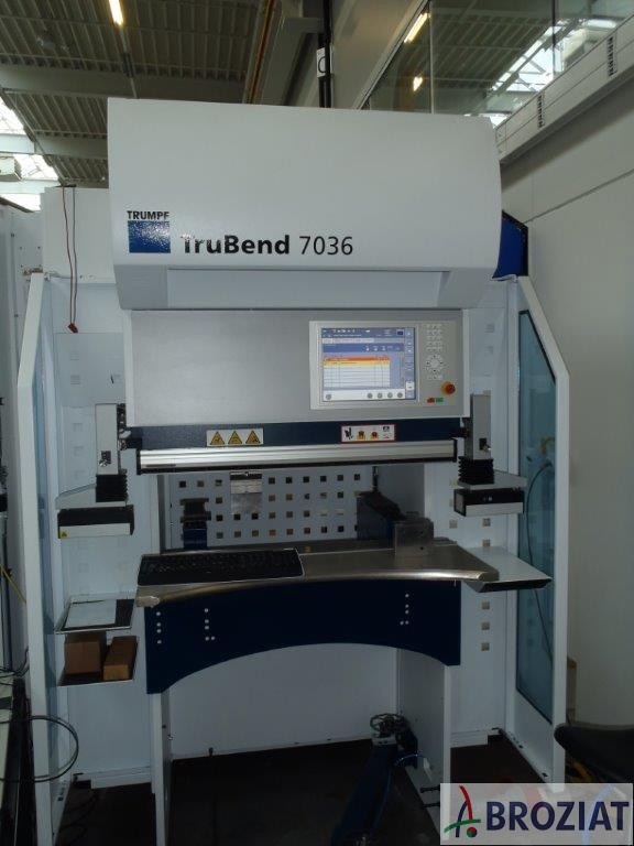 used Sheet metal working / shaeres / bending Hydr. pressbrake TRUMPF TruBend 7036