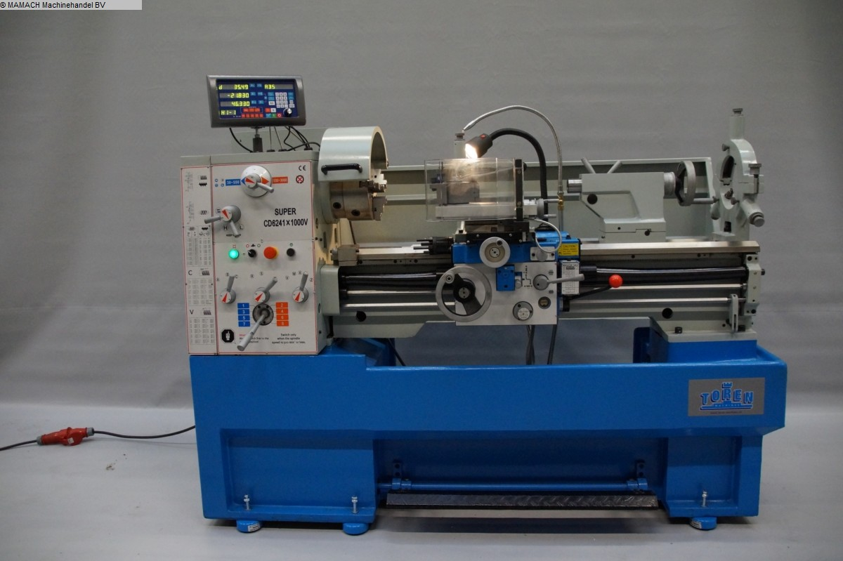 used lathe-conventional-electronic ToRen CD 6241 x 1000 VARIO
