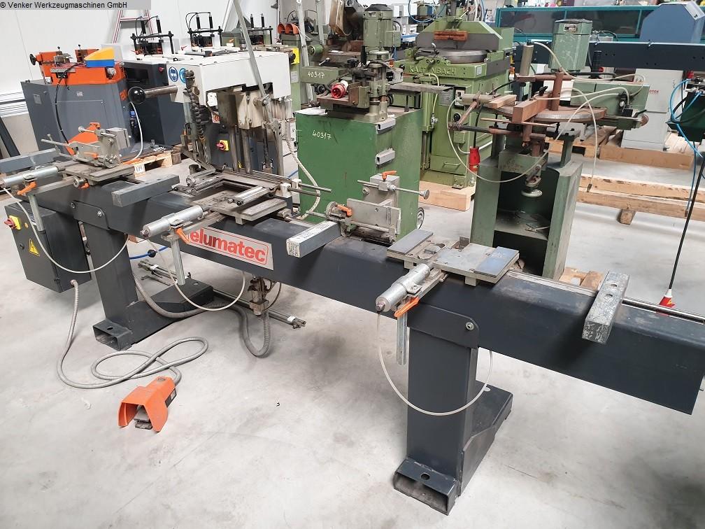 producción de ventanas usada: madera, pvc y aluminio Motor de placa de bloqueo ELUMATEC TBM 126
