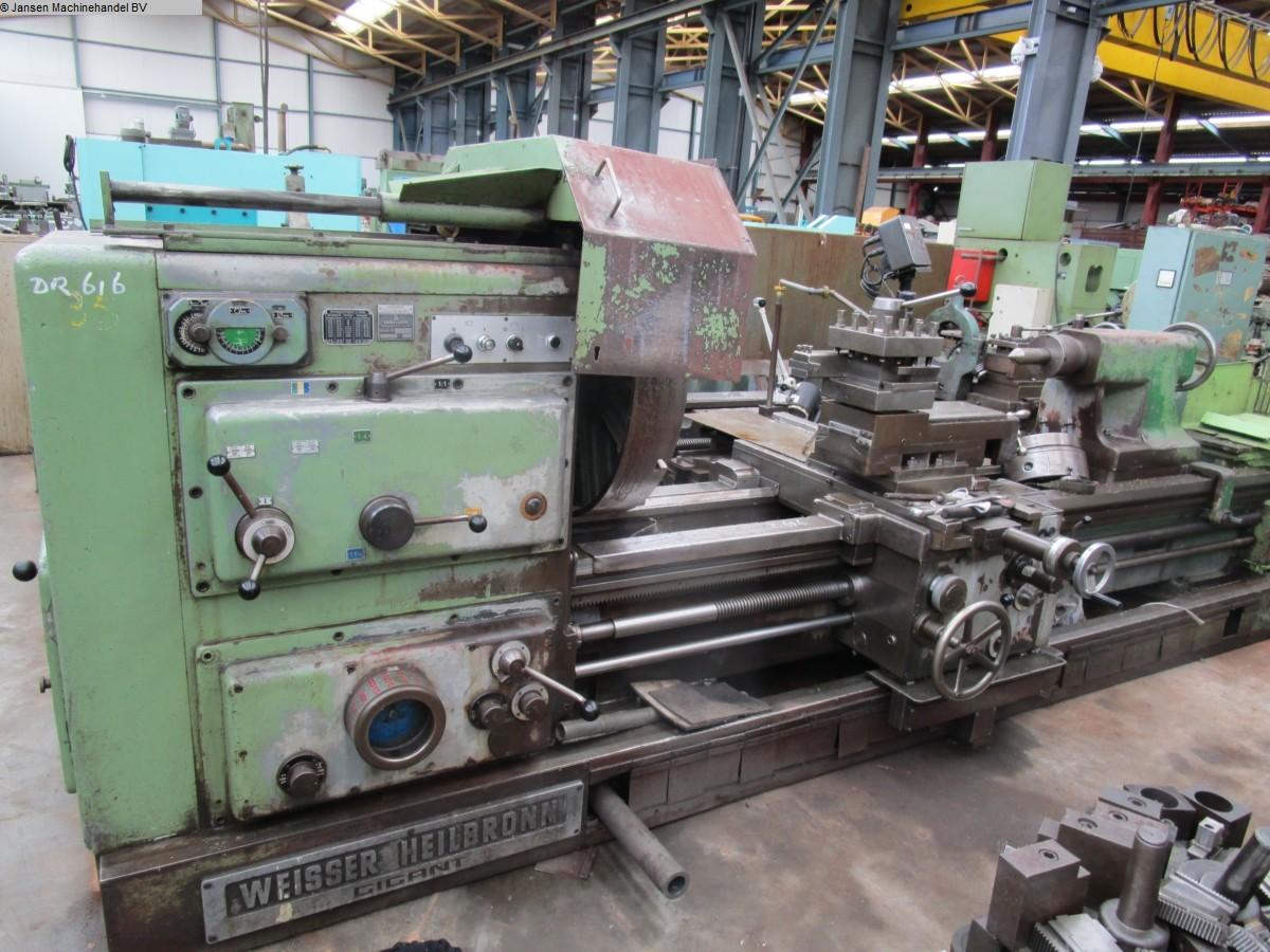 gebrauchte  Drehmaschine-konventionell-elektronisch Weisser Heilbronn Gigant