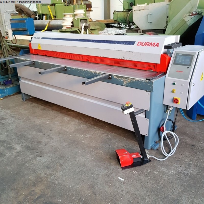 used Plate Shear - Mechanical DURMAZLAR MS 2525