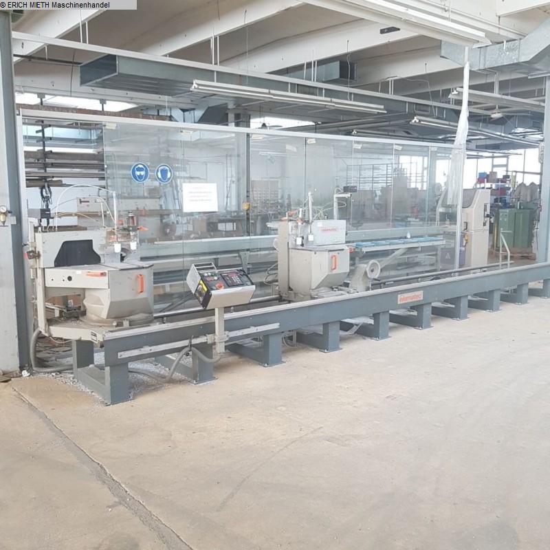 gebrauchte Holzbearbeitungsmaschinen Doppelgehrungssäge ELUMATEC DG 104