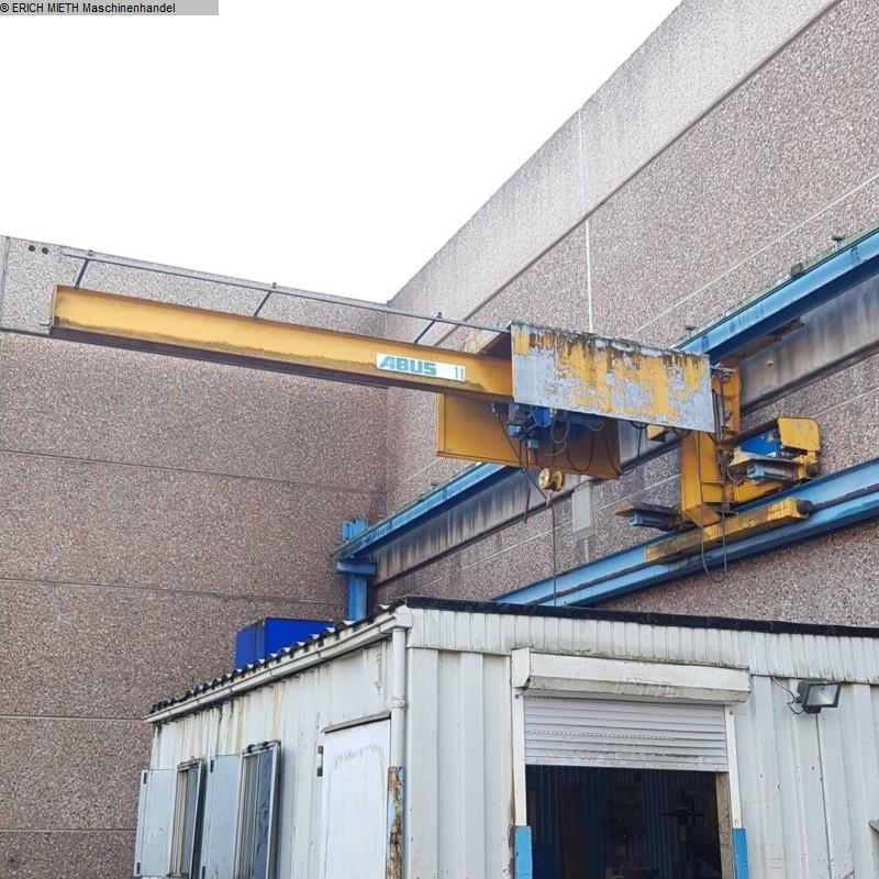 gebrauchte Förder- und Lagertechnik Krananlage ABUS Konsollaufkran 1T