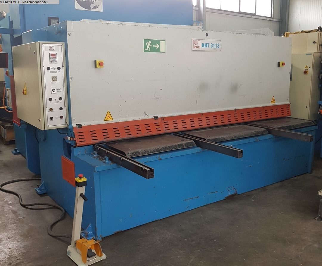 used Sheet metal working / shaeres / bending Plate Shear - Hydraulic KNUTH KHT-E 30-13