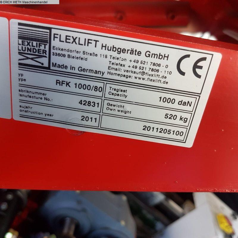 gebrauchte verschiedene Einrichtungen Scherenhubtisch FLEXLIFT RFK 1000 - 80