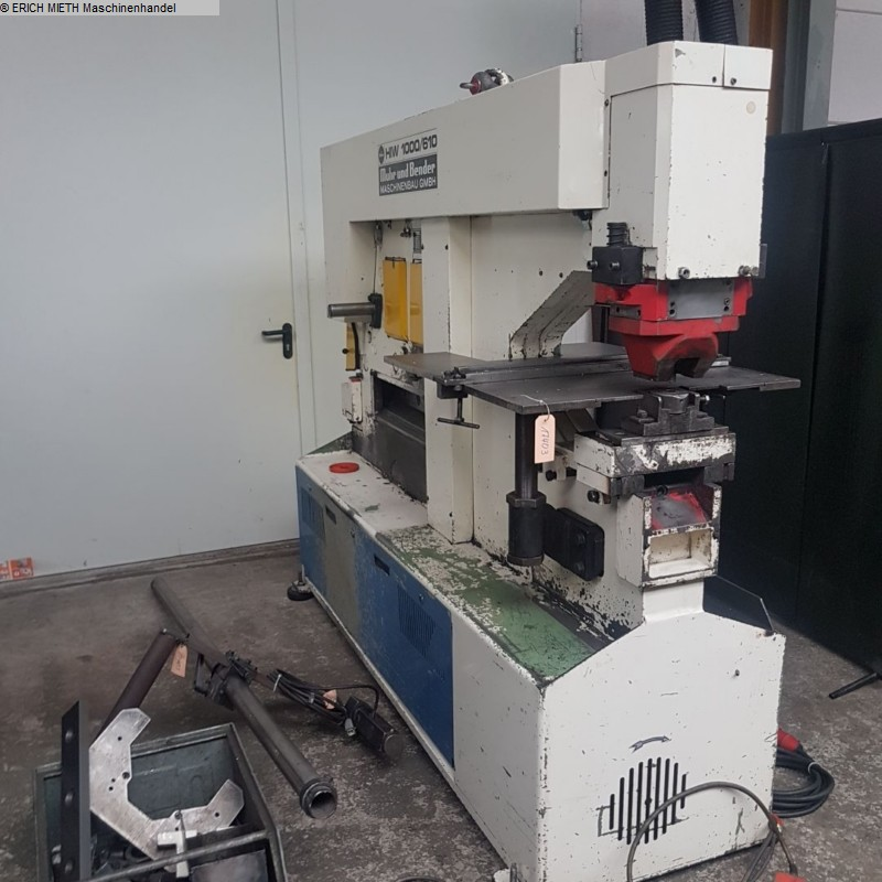 rabljeni strojevi za obradu lima / karike / savijanje šipki Strojevi za šišanje MUBEA HIW 1000/610