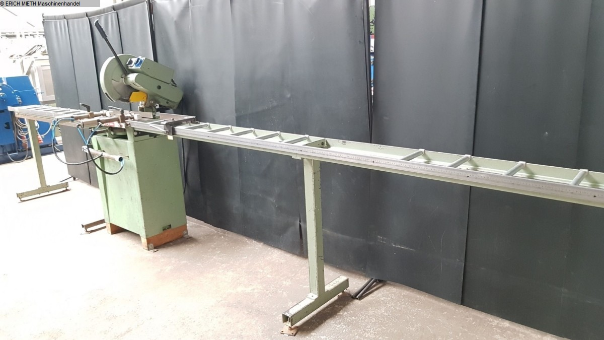 used Window production: wood, pvc and aluminum Double mitre circular saw MEP Cobra 349