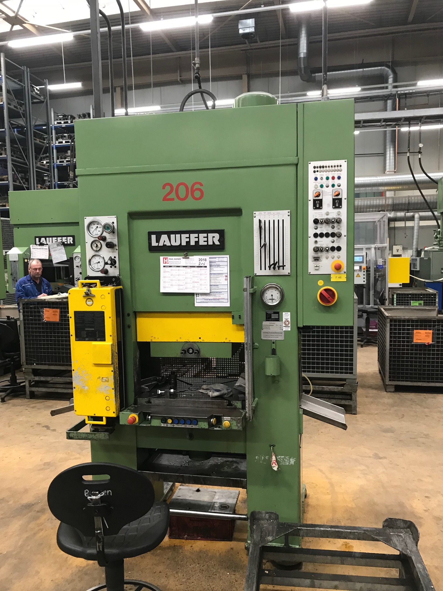 used  Double Column Drawing Press - Hydraulic LAUFFER RPT 63