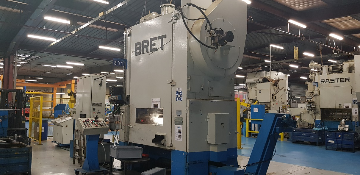 used  double-sided high speed press BRET 2 PAM 12