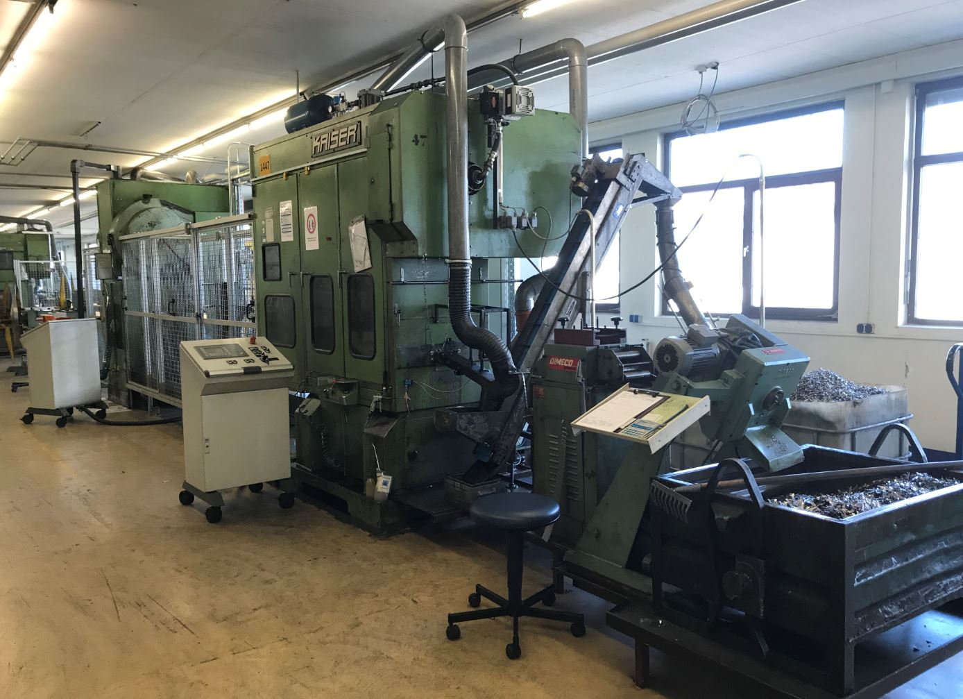 used  double-sided high speed press KAISER V 63 W / 860