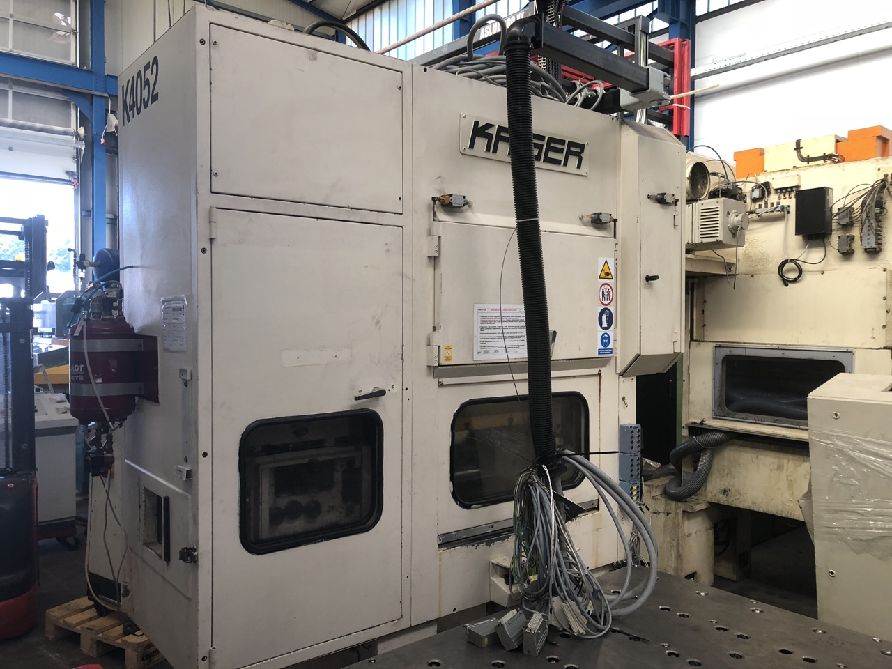 used  double-sided high speed press KAISER V 40 WHS