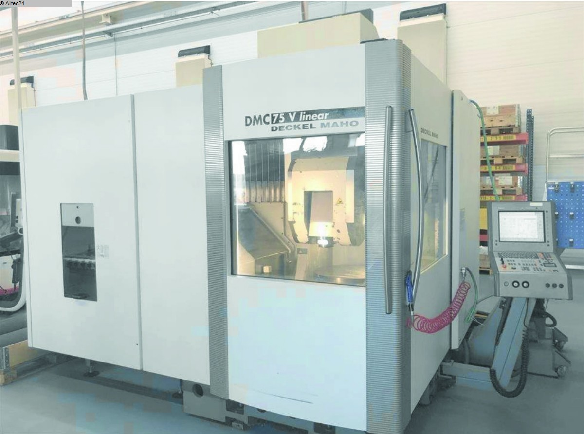 used  milling machining centers - vertical DECKEL MAHO GILDEMEISTER DMC 75V linear