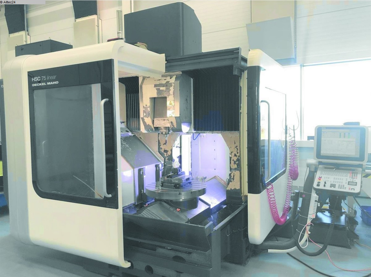 used  milling machining centers - vertical DECKEL MAHO GILDEMEISTER HSC75