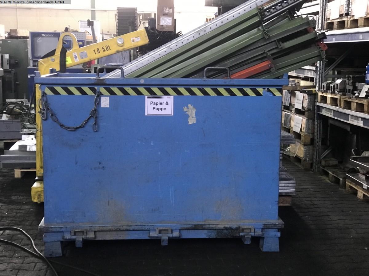 gebrauchte Kunststoffverarbeitungsmaschinen Lagerbehälter BAUER SÜDLOHN Klappbodenbehälter 2000 liter