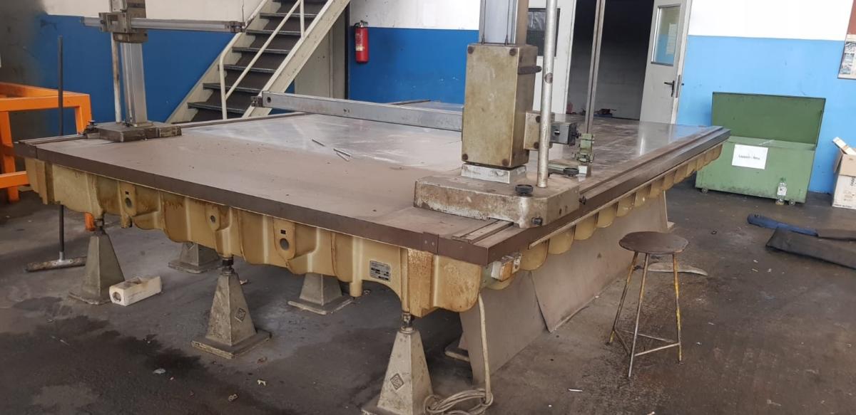 gebrauchte Maschinenzubehör Anreißplatte JOHANN FISCHER 3000x4000mm