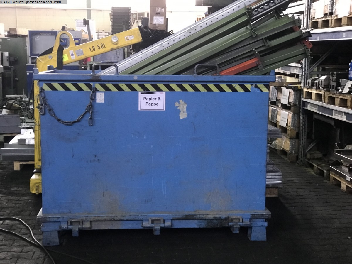 used Material feed storage containers BAUER SÜDLOHN Klappbodenbehälter 2000 liter