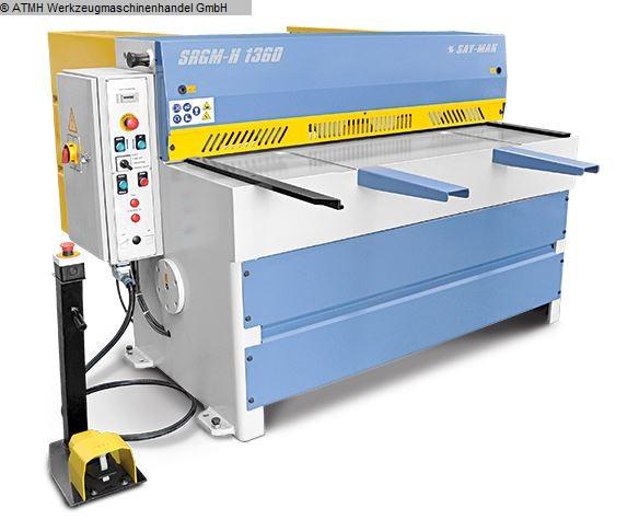 gebrauchte Blechbearbeitung / Scheren / Biegen / Richten Tafelschere - mechanisch SAYMAK SRGM-H-1360