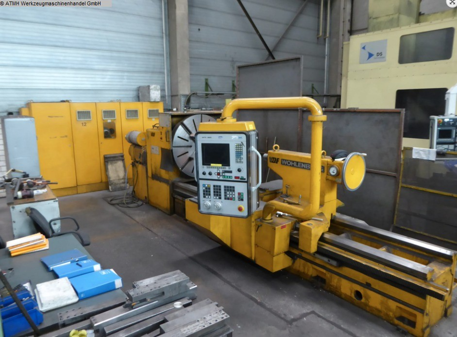 used Lathes lathe-conventional-electronic VDF-WOHLENBERG Schwerlast Drehbank 1200x3000