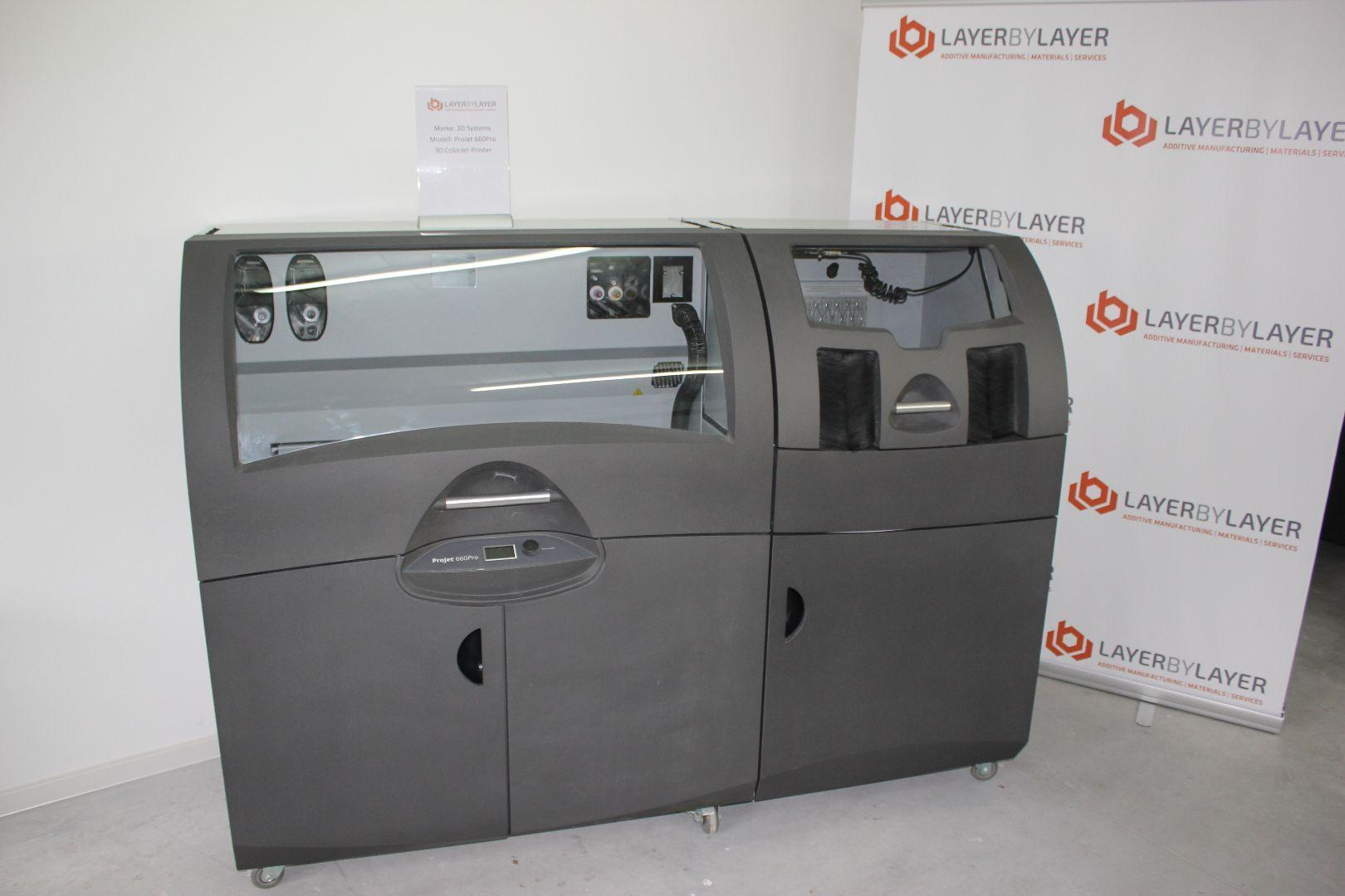 used  3D Printer Fused Deposition Modeling 3D Systems ProJet 660Pro